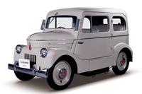 1947年に登場した電気自動車の「たま」。セダンに加え、0.5t積みのトラックなども存在した。