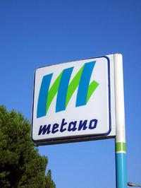 イタリアには現在約300のメタンスタンドがあり、40万台のメタン車が走っている。(筆者撮影)