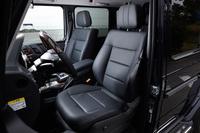 「G550」には、「G350d」ではオプション扱いとなる本革シートが標準で装備される。
