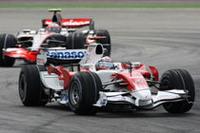 トヨタは善戦。ヤルノ・トゥルーリ(写真)は予選3位から4位でゴール。レース終盤、ハミルトンの猛プッシュにも屈しなかった。ティモ・グロックは、10番グリッドからスタートするも1周目に他車と接触、リタイア。(写真=Toyota)