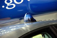 アウト・ブルーの護衛車が付ける青色回転灯。