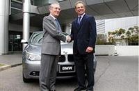 千葉ロッテ監督ボビー・バレンタイン、BMWジャパンを表敬訪問の画像