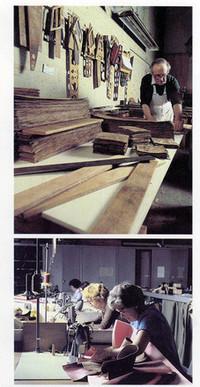 オジサンがウッドパネルを削り、オバサンがシートを縫う。すべてがハンドメイドなロールスの工場。かつては、ベントレーやアストンマーティンも、全行程ほぼ手作業だった。