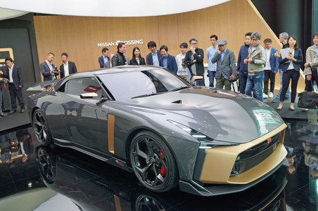 「日産GT-R」とイタルデザインがそれぞれ50周年を迎えることを記念して製作された「日産GT-R50 by Italdesi...