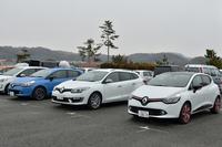 JAIA輸入車試乗会の会場に並ぶ、ルノーの最新モデル。