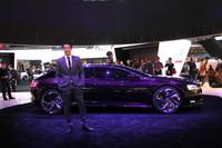 シトロエンが2012年北京ショーで発表済みのコンセプトカー「Numero 9」の姿も。