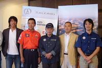 会場には、日本の大会参加者が姿を見せた。