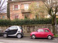 イタリアにおけるマイクロカー、世代交代の図。