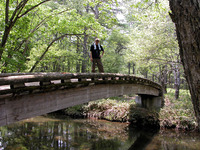 「戦場ヶ原自然研究路」、スター地点からしばらくは、右に小川を見ながらのコース。