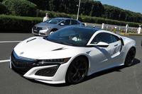 新型「NSX」。日本ではホンダブランドから、アメリカではアキュラブランドからリリースされる。