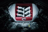 最高出力570psを発生する、3.8リッターV6ツインターボエンジン。