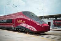 イタリアの新鉄道会社NTV社の特急「イタロ」。