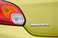 2012年7月末に正式発表され、8月末に発売される予定の新型「ミラージュ」。新興国ではエントリーカー、先進国では環境対応車という二つのニーズを満たす。