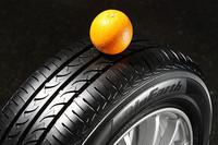 省燃費とグリップ力を両立するという「オレンジオイル」を採用するのは、「DNA Earth-1」同様。