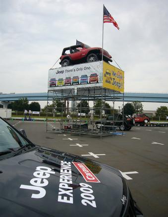 2009年4月から全国7都市を巡回してきた、ジープの一般向け試乗会が「Jeep EXPERIENCE CARAVAN (ジープエクスペリエンスキャラバン)」。その最終回が東京お台場の特設会場で開催された。