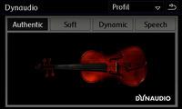 「ディナウディオエディション」では、専用の車両のサウンド設定画面も用意される。