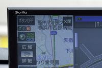 方位アイコンの横に受信中の衛星を表示。みちびきの下のGGはゴリラジャイロのこと。
