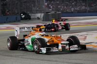 """フォースインディアを駆るデビュー2年目の""""フライング・スコット""""、ポール・ディ・レスタが、予選6位から上位グループを常に視野に入れながら走行、見事自身最高位となる4位でゴールした。フォースインディアは現在75点を獲得しランキング7位。26点前方に6位ザウバーがいる。(Photo=Force India)"""