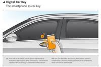 こちらは、スマートフォンをキー代わりに使う「Digital Car key」の説明図。個人を特定できる電子機器を生かした技術である。