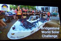 同じくスライド映像から。ワールド・ソーラー・チャレンジの参加車両。