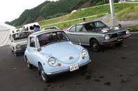 試乗会場に用意された、スバル秘蔵のヒストリックカー。