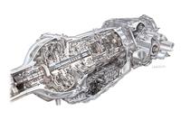 8L90型8段AT。燃費と加速性能を改善するだけでなく、軽量でコンパクトなのも自慢。