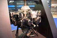 「栄21エンジン」 昭和18年(1943年)12月製造。栄21型エンジン。制式名称:「2式1150発動機」(呼称ハ115)。2列星形14気筒。1段2速ギア駆動遠心式過給機。直径1150mm。乾燥重量590kg。ボア130mm×ストローク150mm。排気量27.9リッター。離昇出力1130hp。