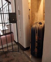 わが家のカンティーナにあったルイジ・コラーニデザインのスーツケース。
